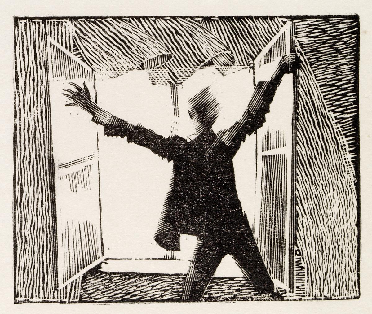 Johannes foran åpent vindu [Prøvetrykk]