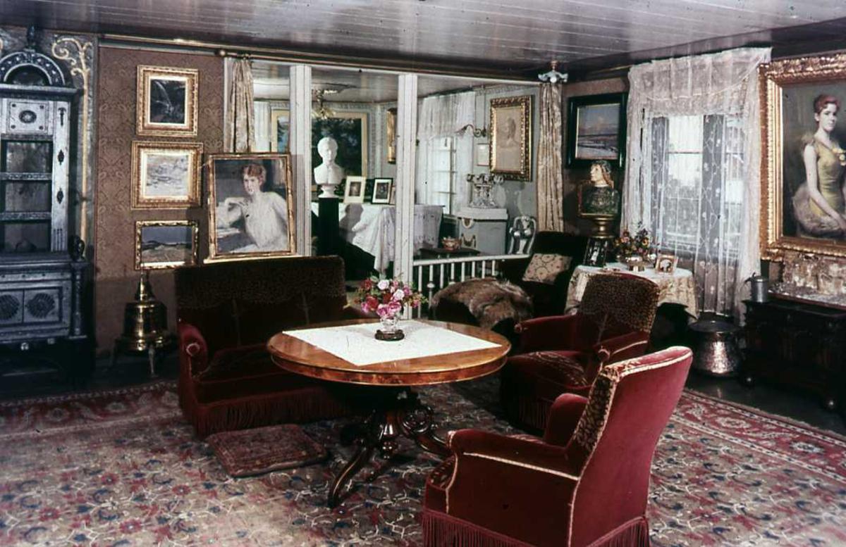 DOK:1960-tallet, Aulestad, interiør, stue,