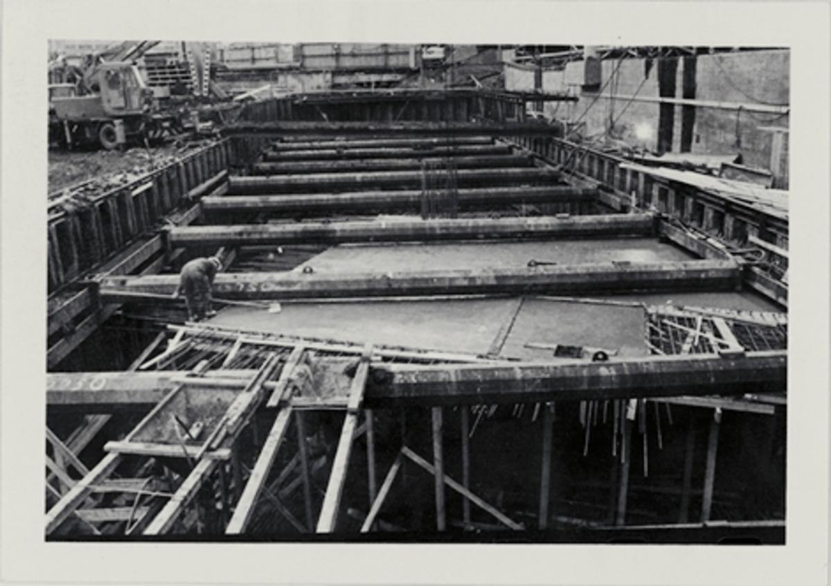 eksteriør, postterminal. Oslo, Postgiro, byggeprosess, 6. november 1972