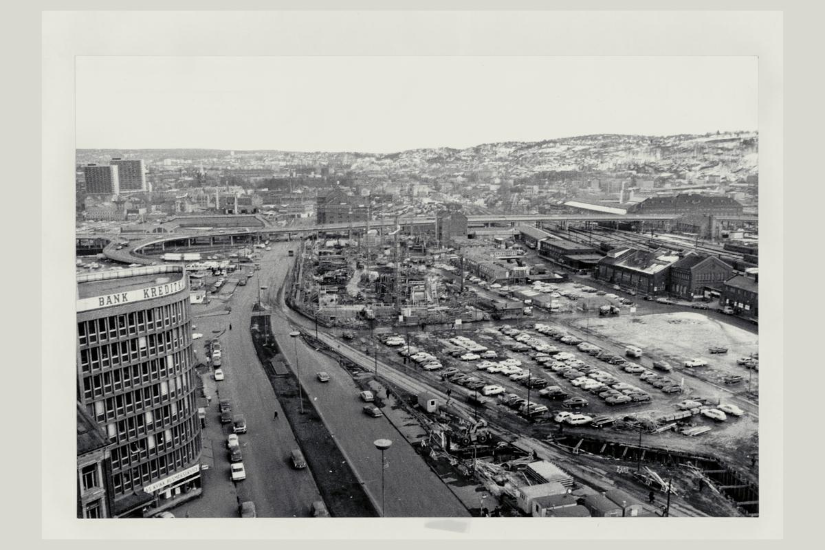 eksteriør, postterminal, Oslo, Postgiro, byggeprosess, 1. mars 1973