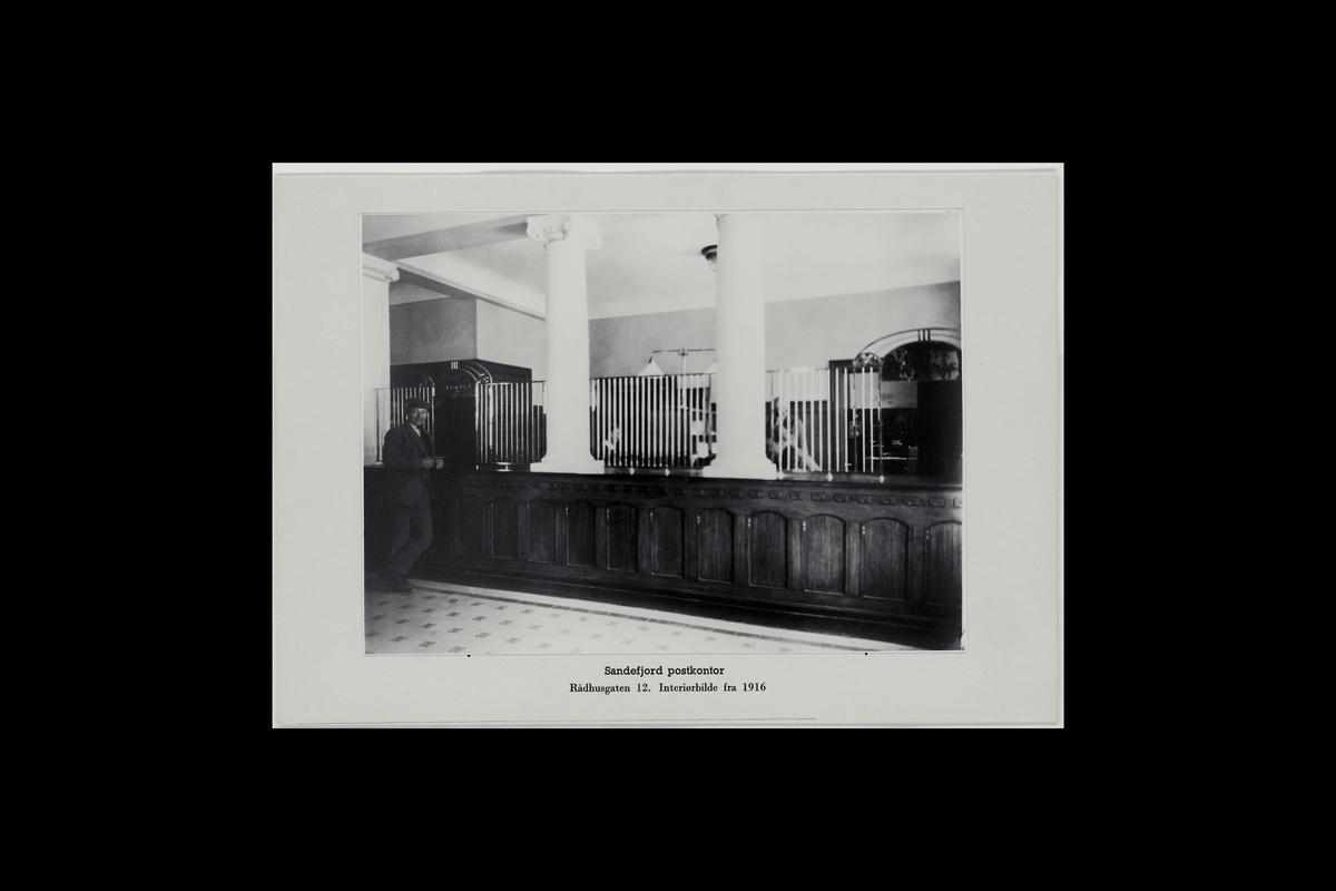 interiør, postkontor, 3200 Sandefjord, publikumshall, kunde