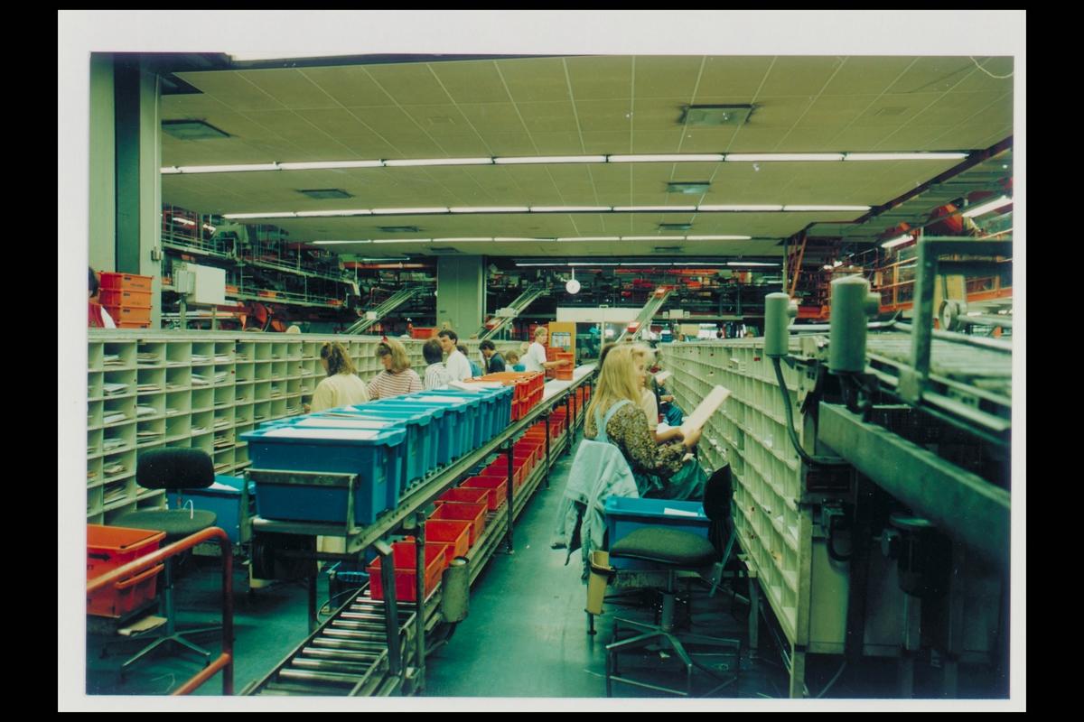 interiør, postterminal, 0020 Oslo, postgiro, postbehandling