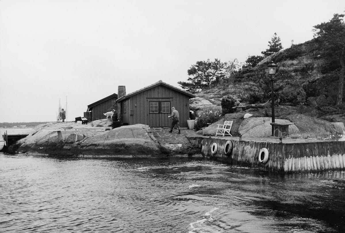 transport, båt, Kragerø, brygge, mann med post