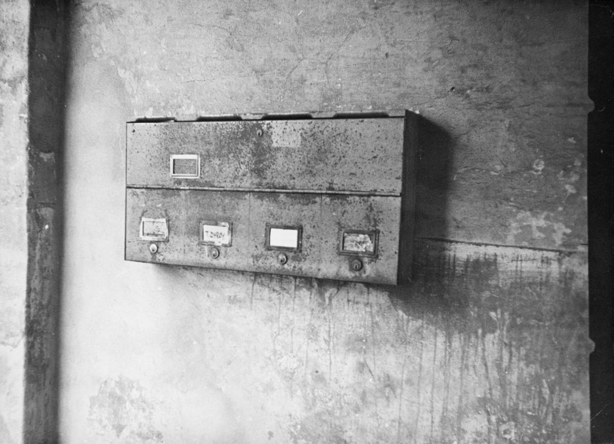 postkasser, private, postkasseanlegg, rust, interiør
