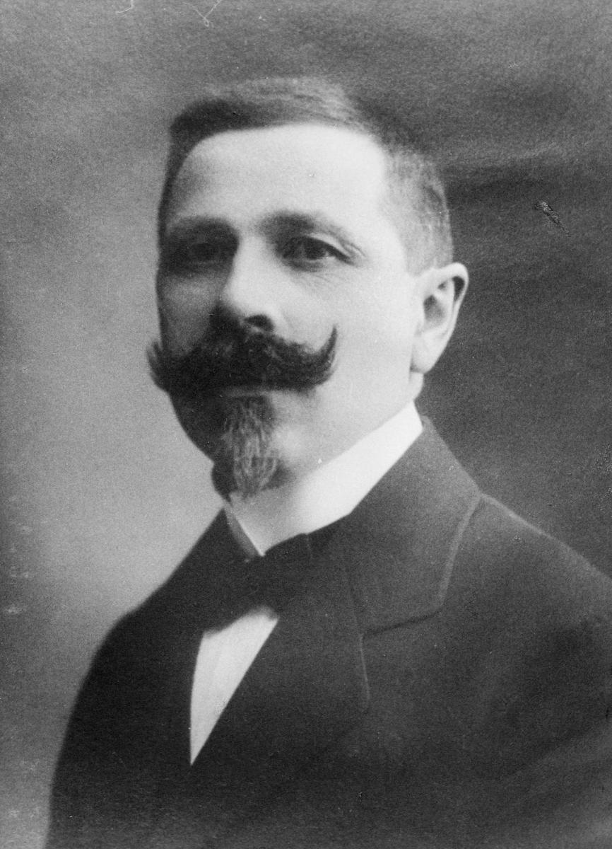 portrett, postmester, Bernt Teodor Fredriksen
