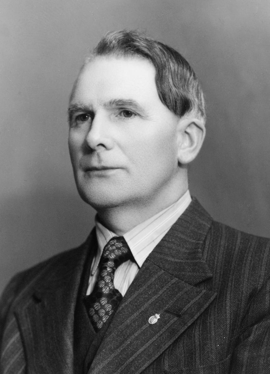 portrett, postmester, Johan Bernhard Thorsen