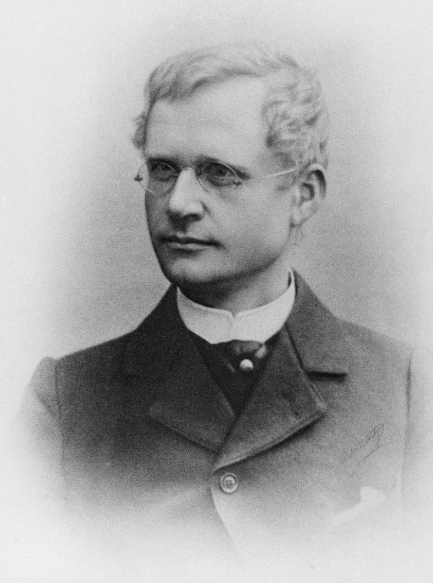 portrett, postmester i Bergen, Jacob Marius Schøning