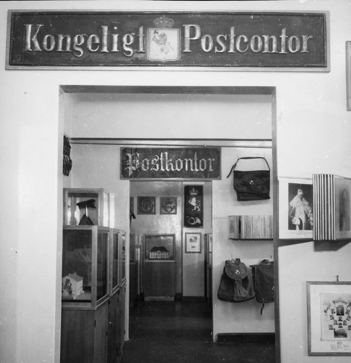 postmuseet, Dronningensgate 15, Oslo, 7. etasje, 1947-1957, kongelig postkontor, interiør