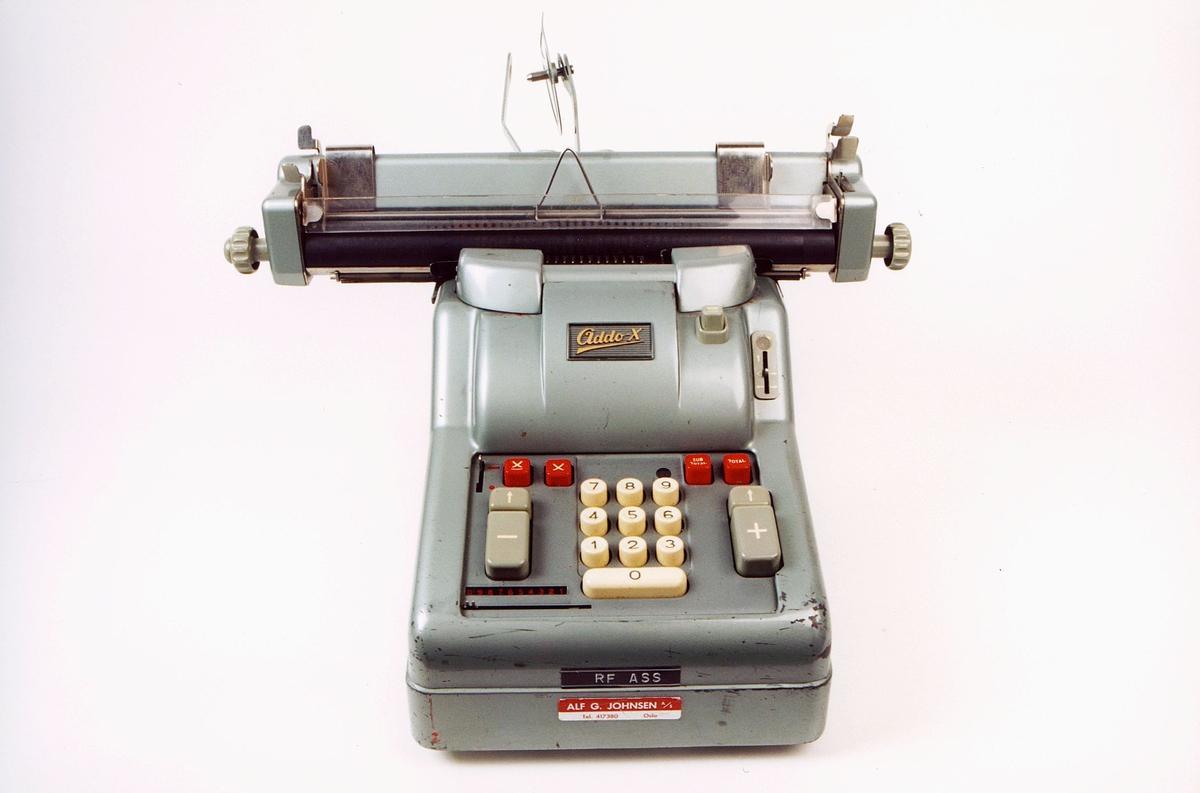 postmuseet, gjenstander, Addo-X regnemaskin