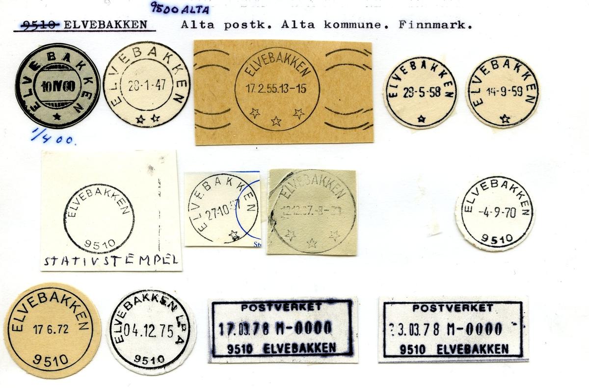 Stempelkatalog, Elvebakken, Alta, Alta komm., Finnmark