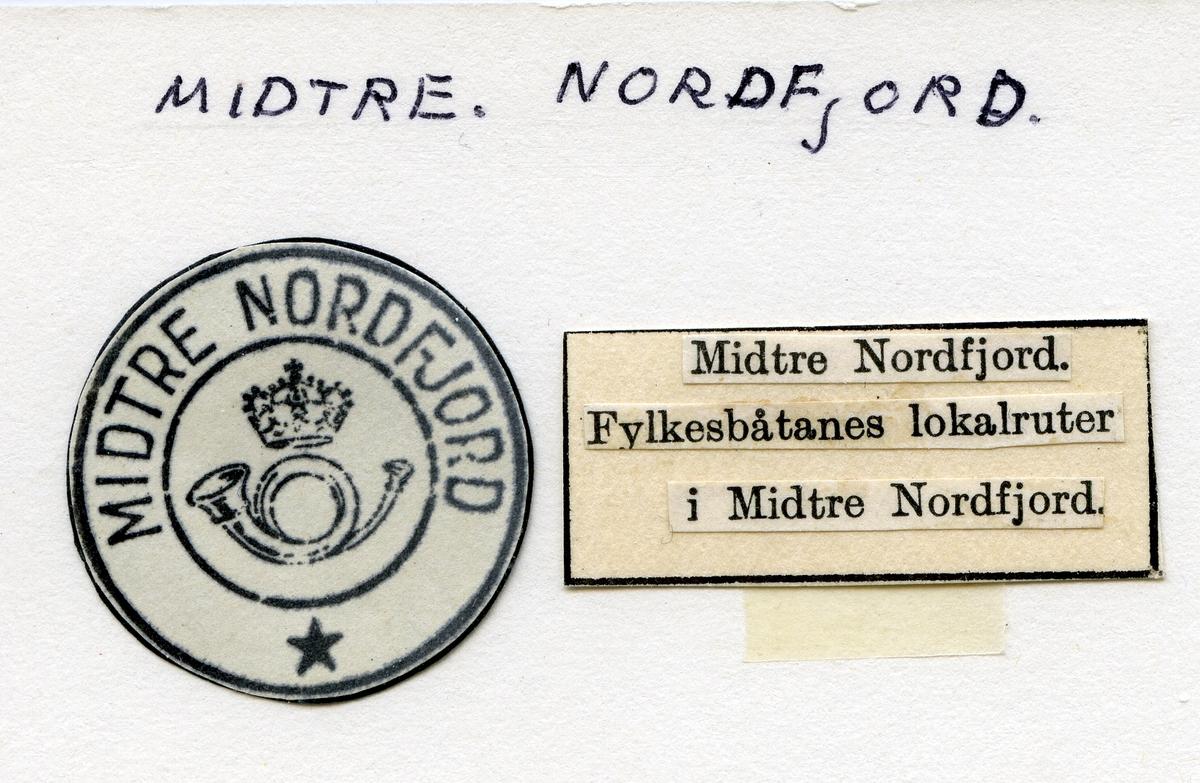 Stempelkatalog  Midtre Nordfjord, Sogn og Fjordane