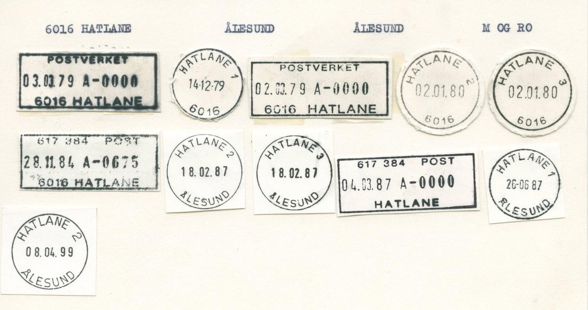 Stempelkatalog, 6016 Hatlane, Ålesund, Ålesund, Møre og Romsdal