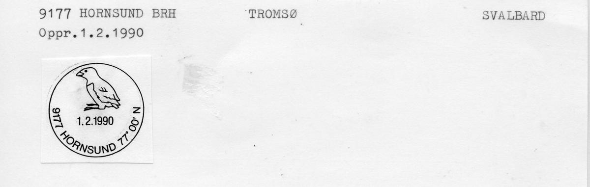 Stempelkatalog 9177 Hornsund, Tromsø, Svalbard