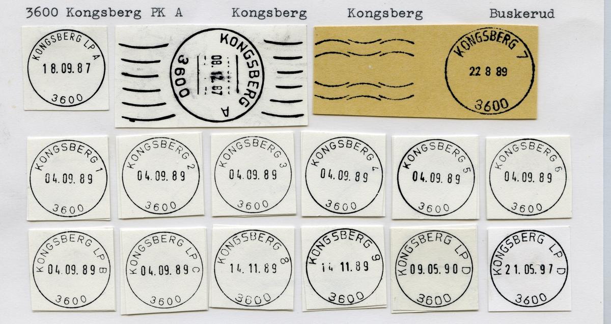 Stempelkatalog 3600 Kongsberg, Kongsberg kommune, Buskerud
