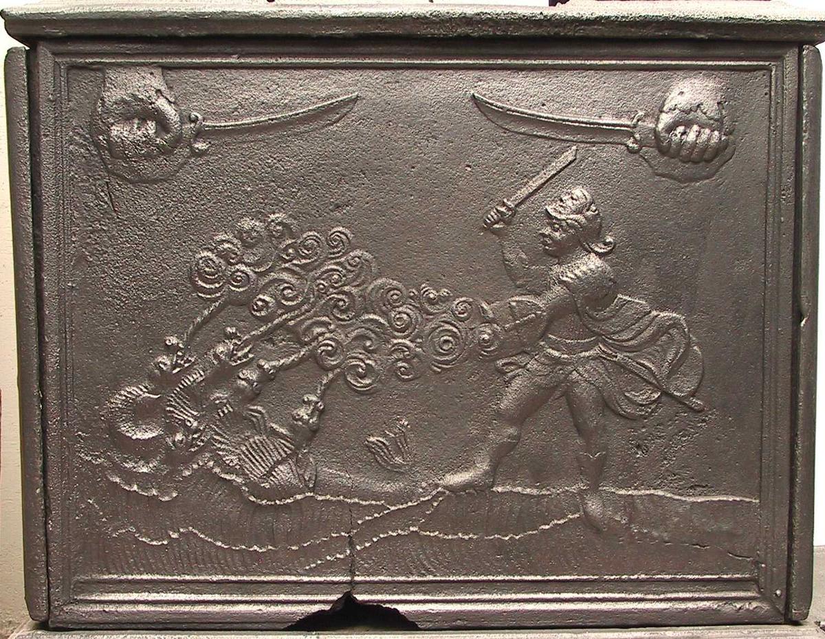 Perseus i kamp med femhodet drage.