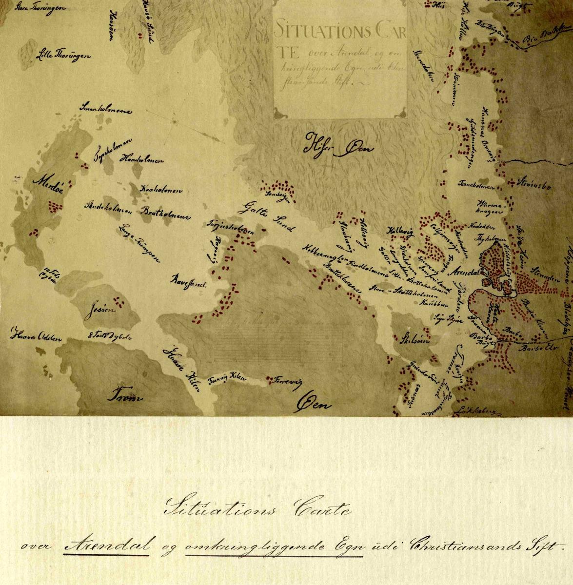 Kart over Arendal