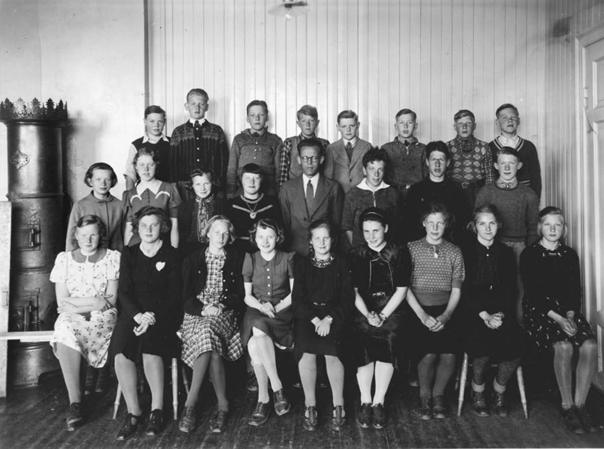 Skolebilde, Kontra skole 1939, 7. klasse.