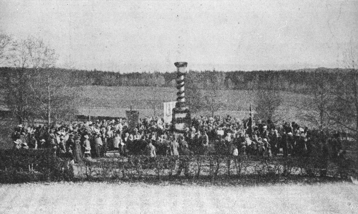 Innvielse av Falsen-støtta 14 september 1864.