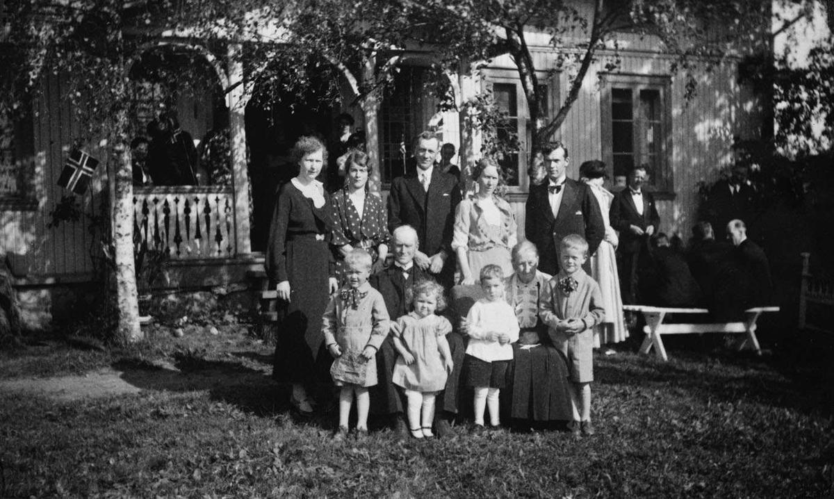 Gullbryllup på Baarlid 9. juni 1937.