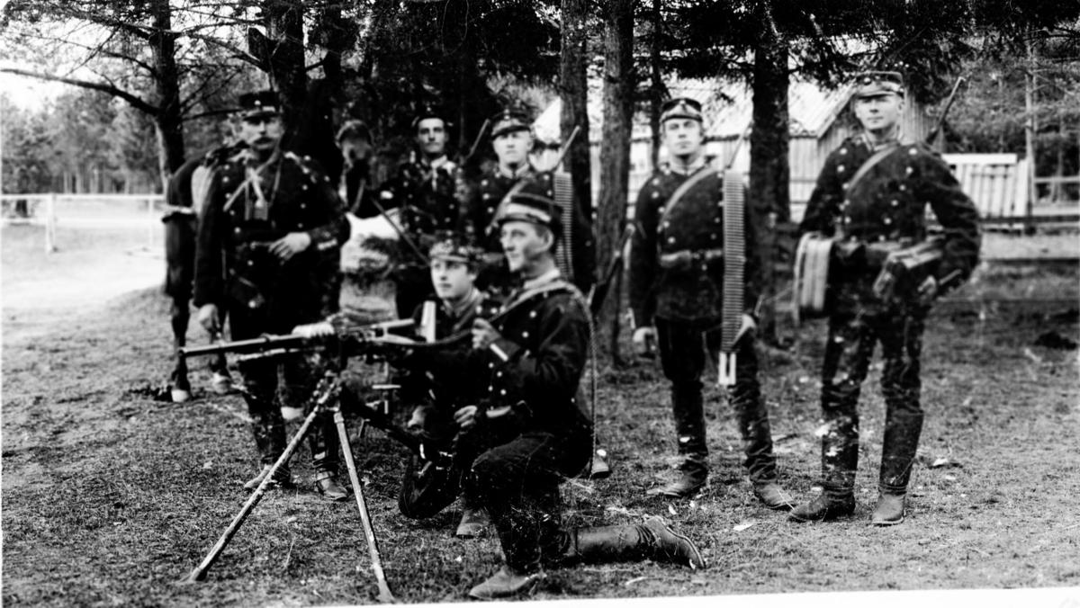 Kavalerister samlet på Gardermoen.
