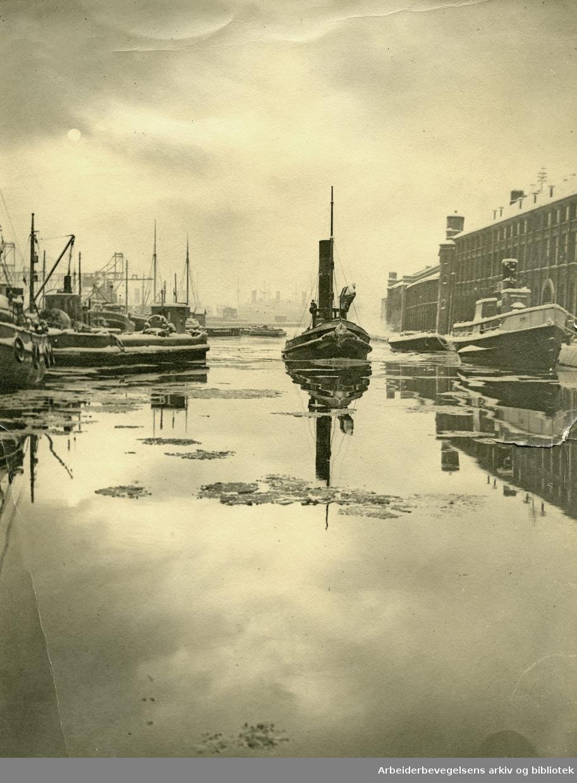 Oslo havn,.ca. 1930