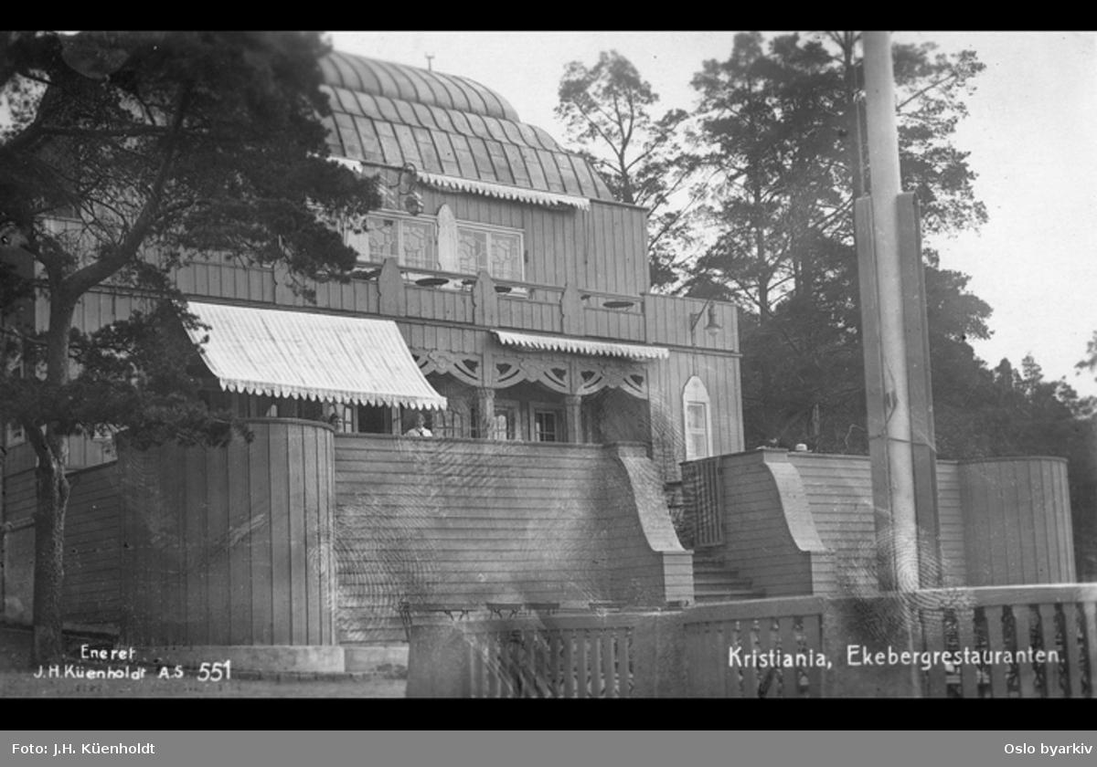 Fasade, restauranten er oppført 1915
