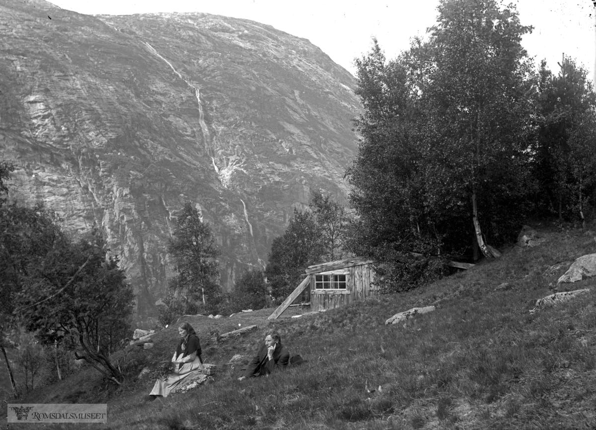 Fossafjellet, sæterstølen .(Edvard var i Amerika fra april 1896 til desember 1910)