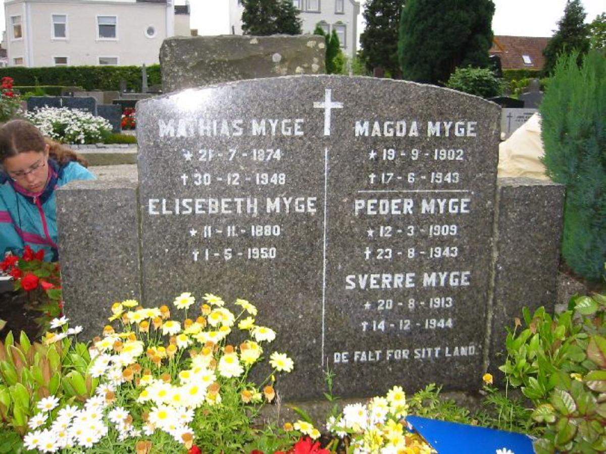 Vanlig gravstein på familiegrav