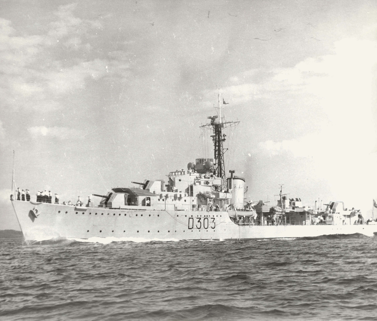 Motiv: Jageren KNM OSLO (D303) babord side