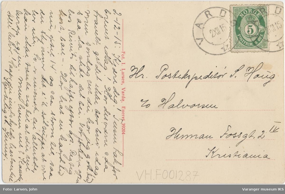 Postkort, Dampskipskaia i Vardø