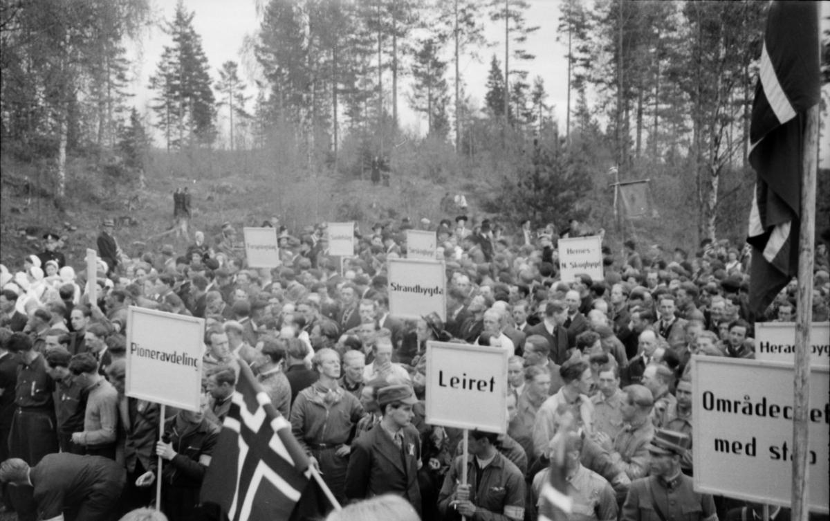 17. mai 1945. Christiansfjeld festning.