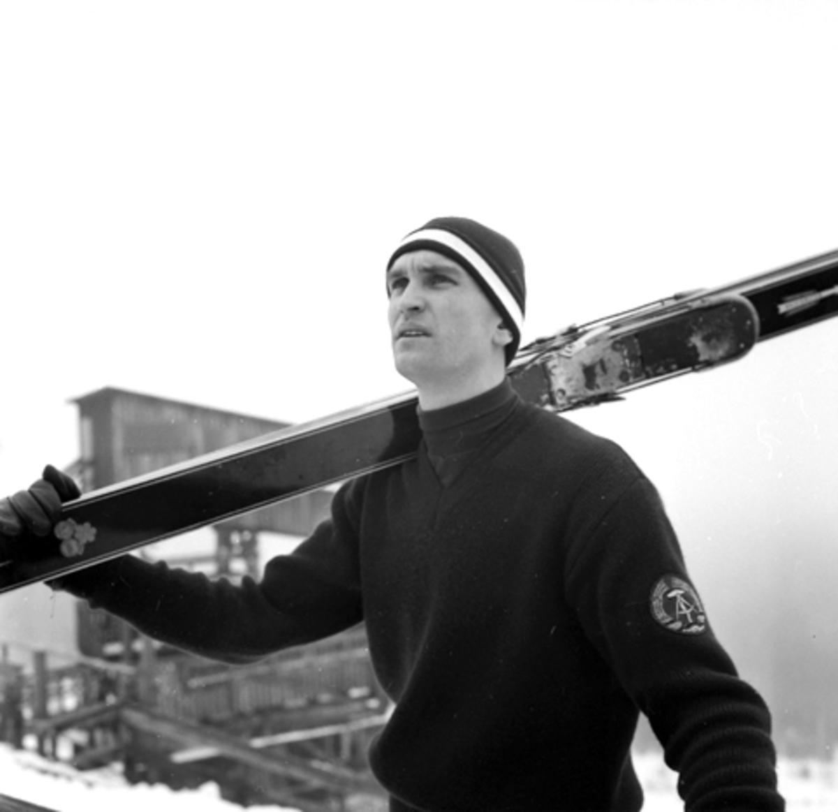 Reiner Dietel, DDR, Øst-Tyskland, ski.
