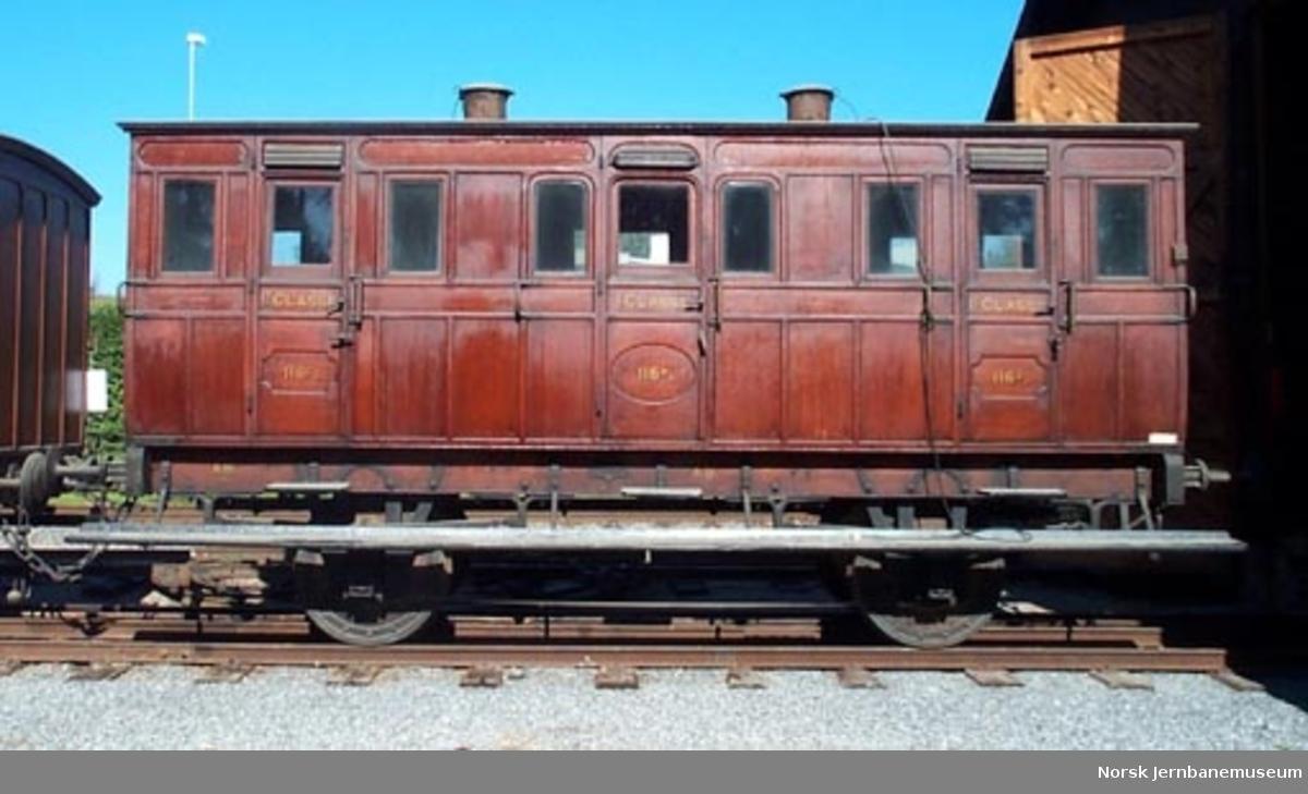 Personvogn for 1. og 2. klasse litra AB nr. 116 fra Kongsvingerbanen