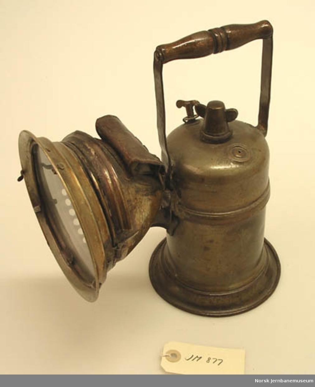 Karbidlampe : for vognvisitør