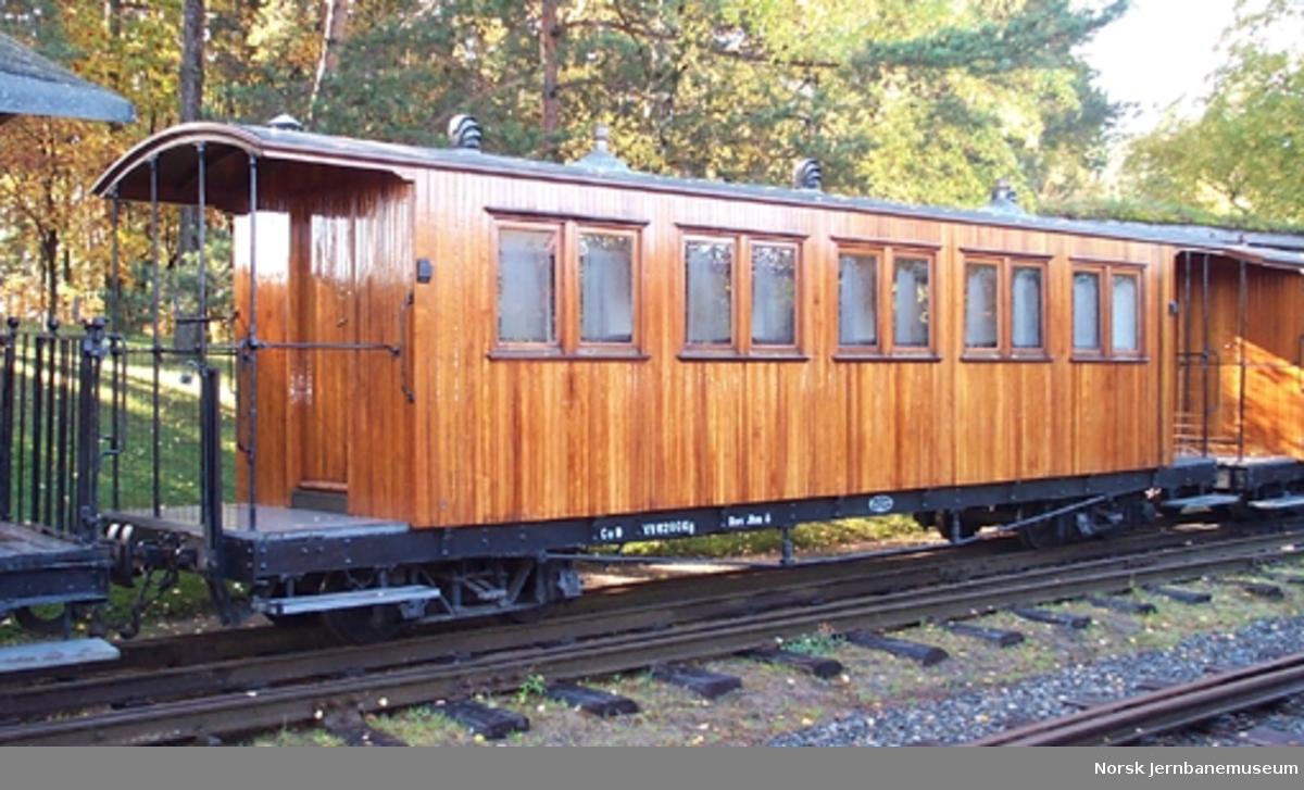 Personvogn litra Co nr. 9 fra Aurskog-Hølandbanen, opprinnelig bygget for Nesttun-Osbanen