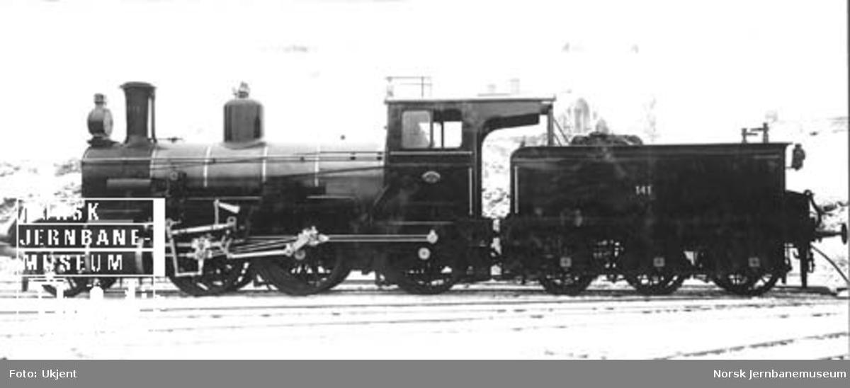 Damplokomotiv type 15c nr. 141 ved leveransen