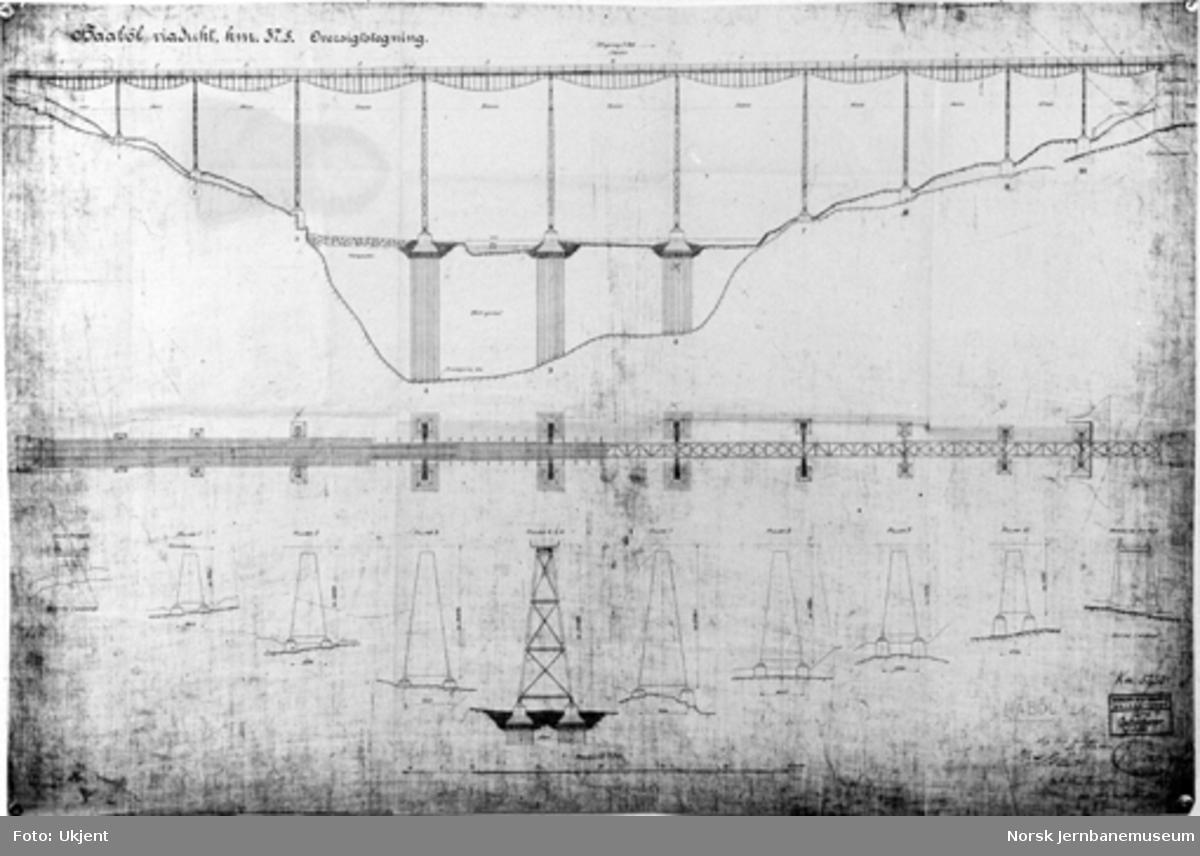 Tegning av Hobøl viadukt