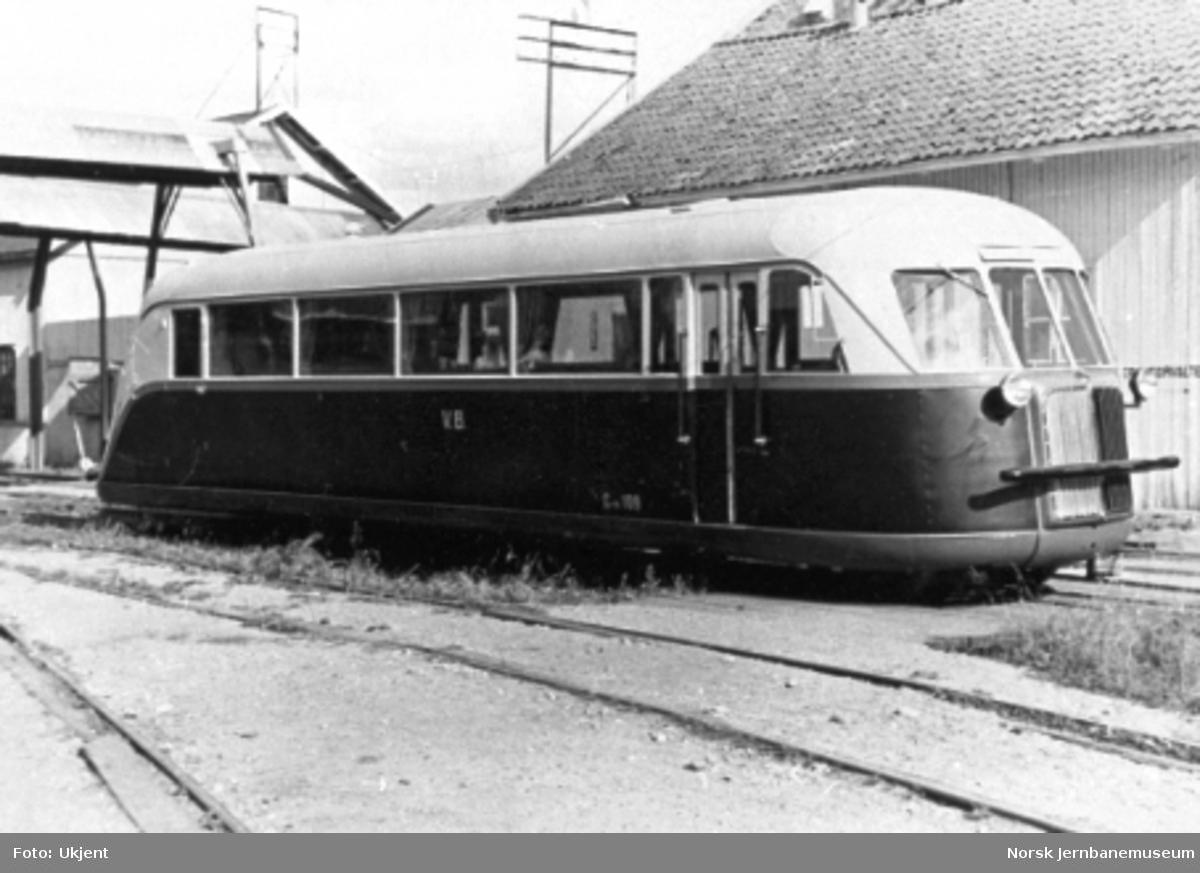 Valdresbanens motorvogn litra Cm nr. 109, trolig på Strømmens Værksted før levering