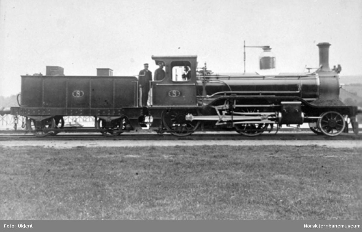 Hovedbanens damplokomotiv litra B nr. 8