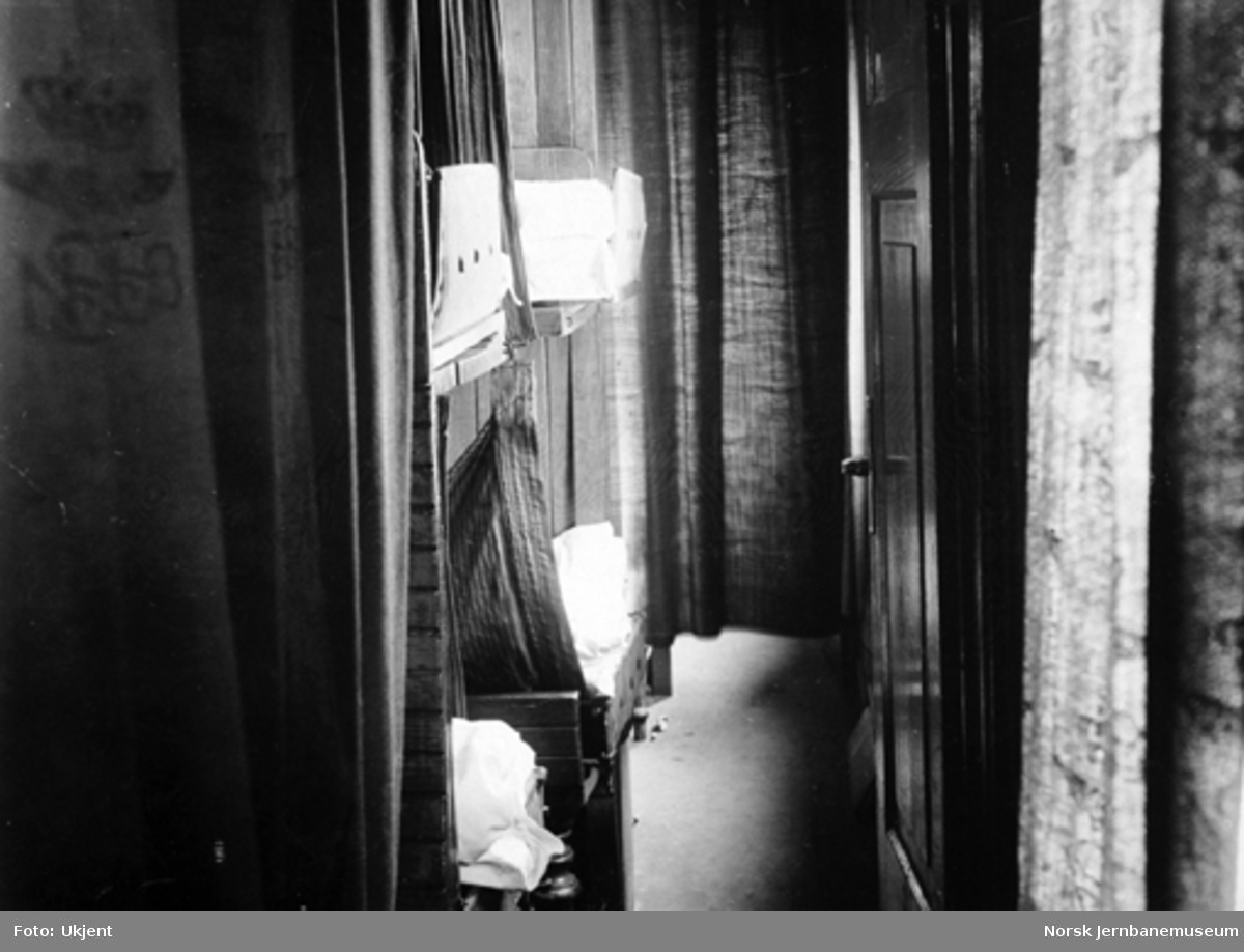 Interiørbilde fra smalsporet sovevogn