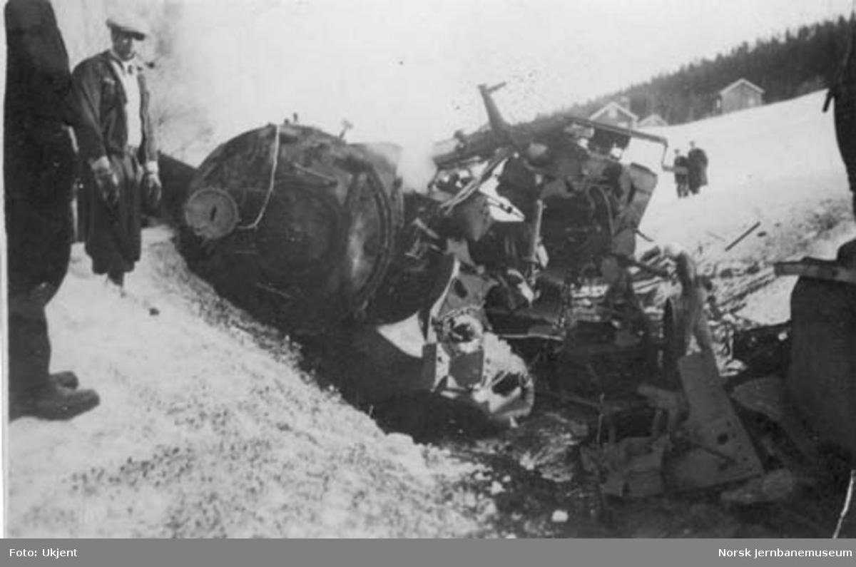 Veltet damplokomotiv type 31b nr. 403 ved Breifoss-ulykken