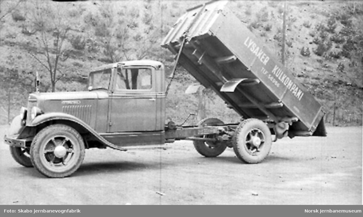International lastebil til Lysaker Kulkompani, skruetipp, A-14861