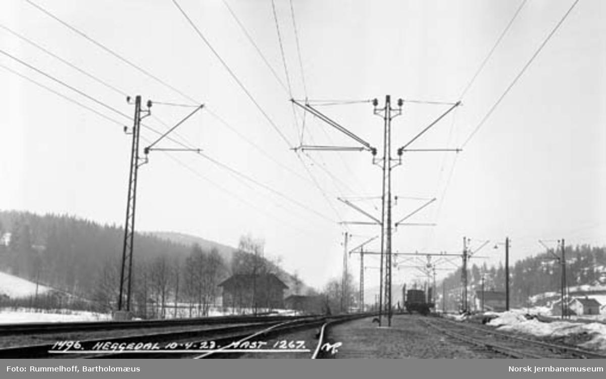 Drammenbanens elektrifisering : kontaktledningsanlegg Heggedal stasjon