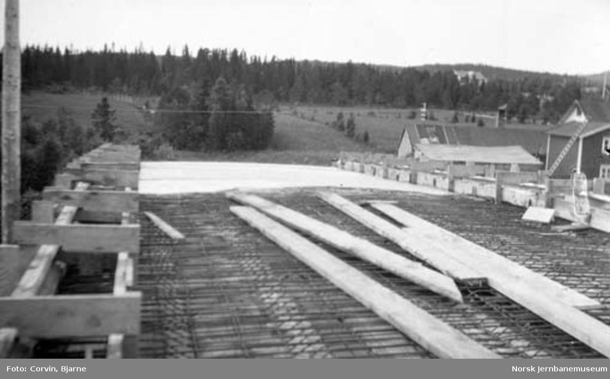 Støping av vegovergang ved Heimdal