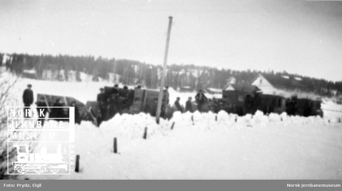 Snørydding på Urskog-Hølandsbanen