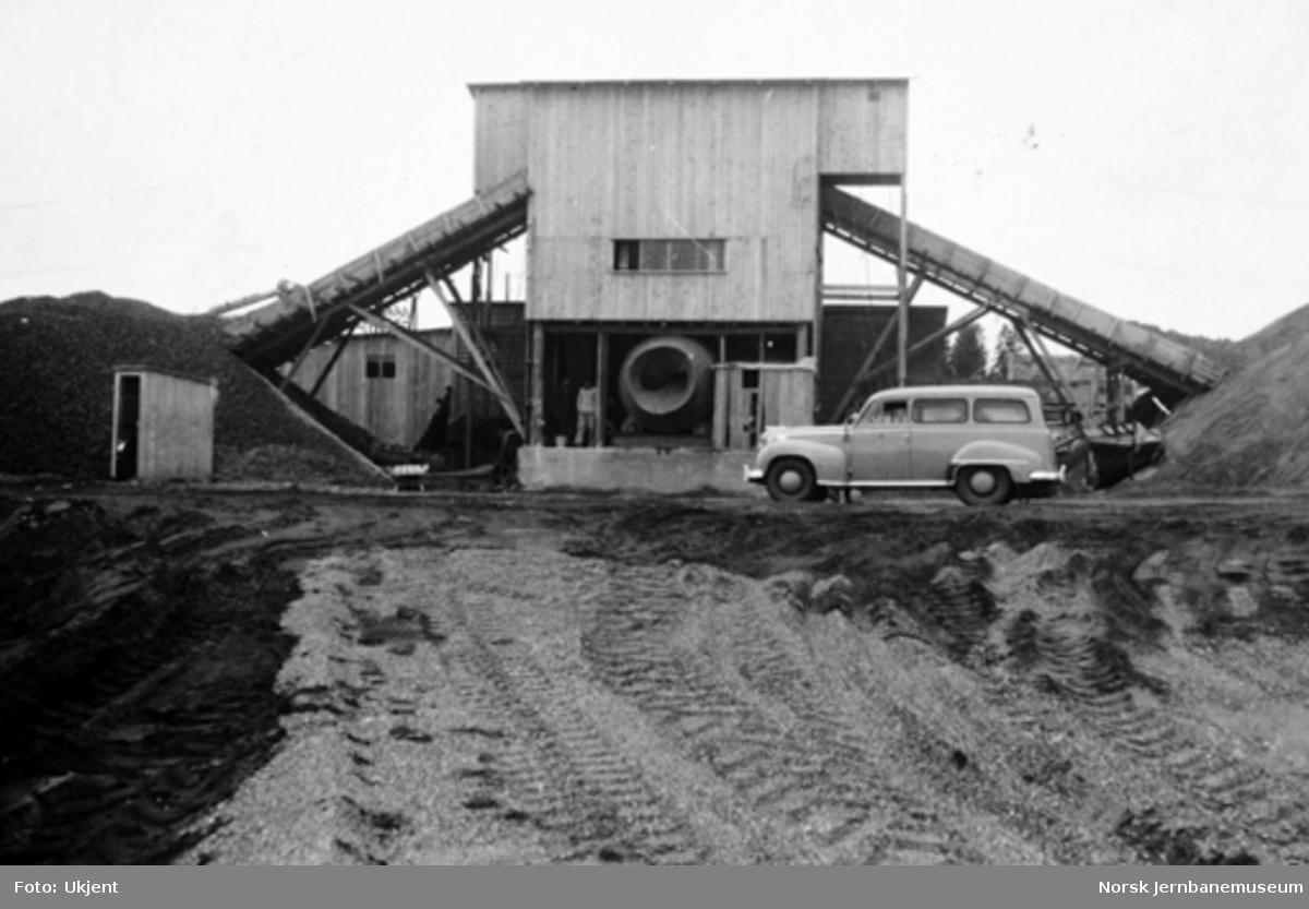 Betongstasjon ved Rygge flyplass