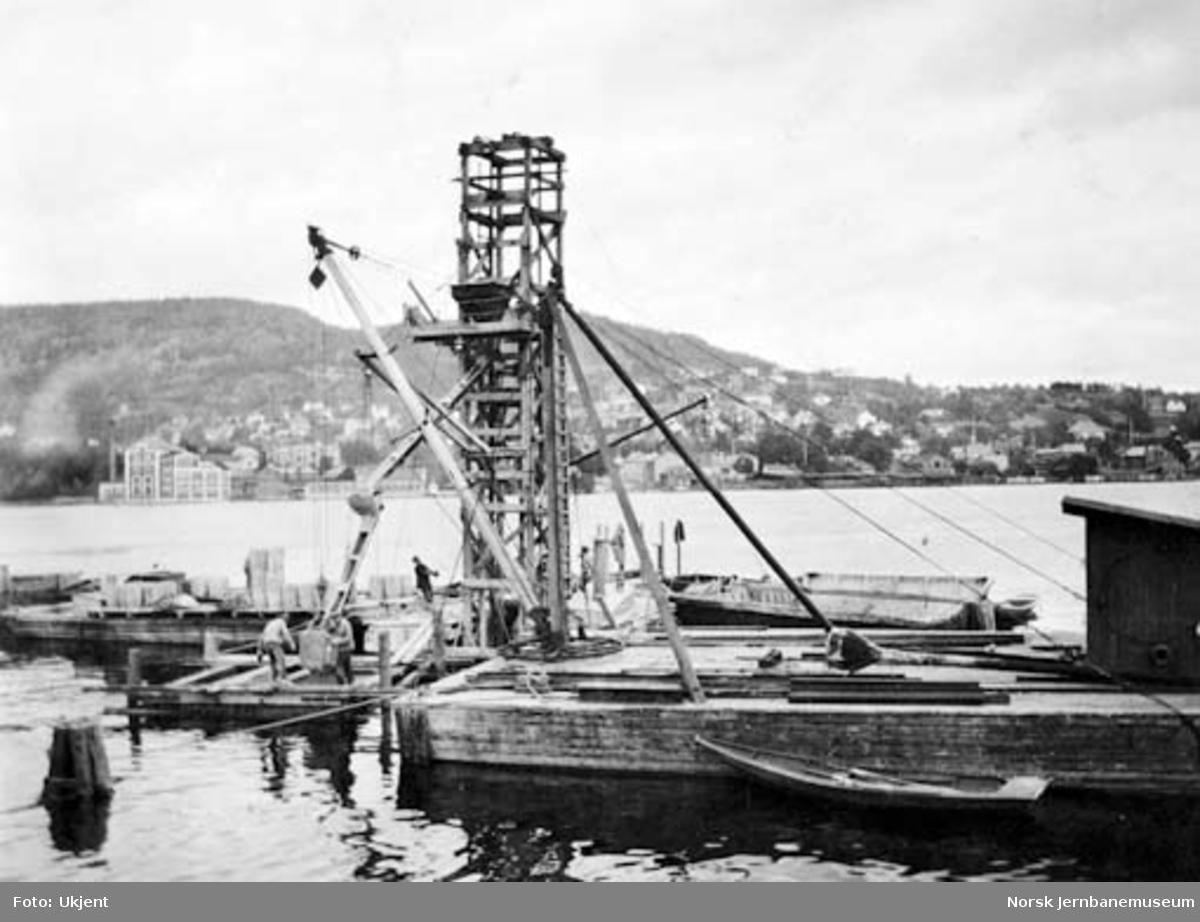 Ny Drammensbru : fundamentstøping