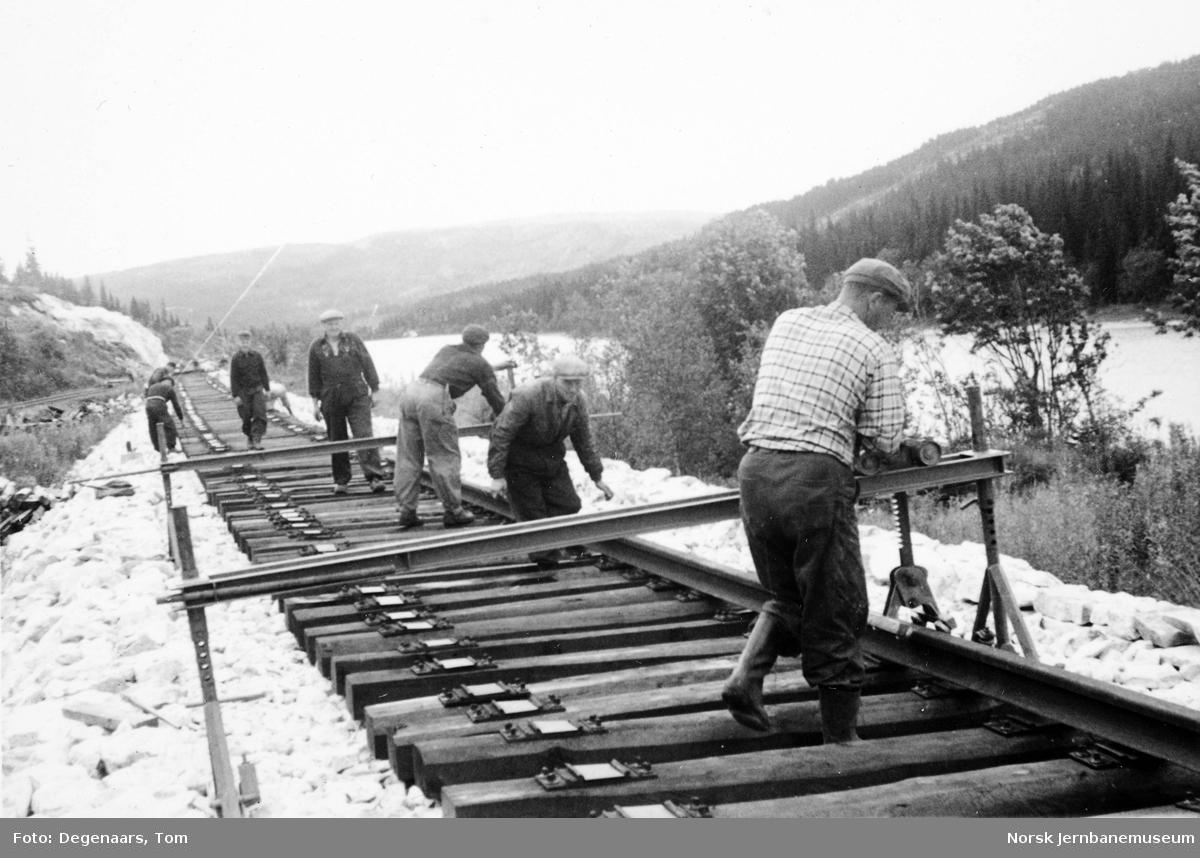 Sporlegging nord for Skonseng