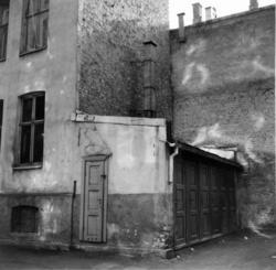 Hesselbergs gate 11, Grünerløkka, Oslo 1961. Bakgården.
